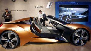 Un modelo conceptual de BMW, que permite algunas funciones con gestos. Foto:Reuters
