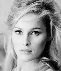 """Ursula Andress on the set of """"She"""" 1965"""