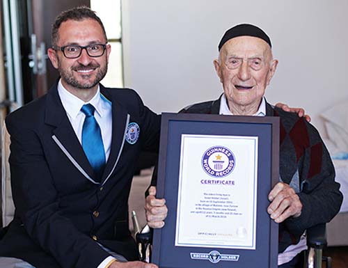 Mideast Israel World's Oldest Man