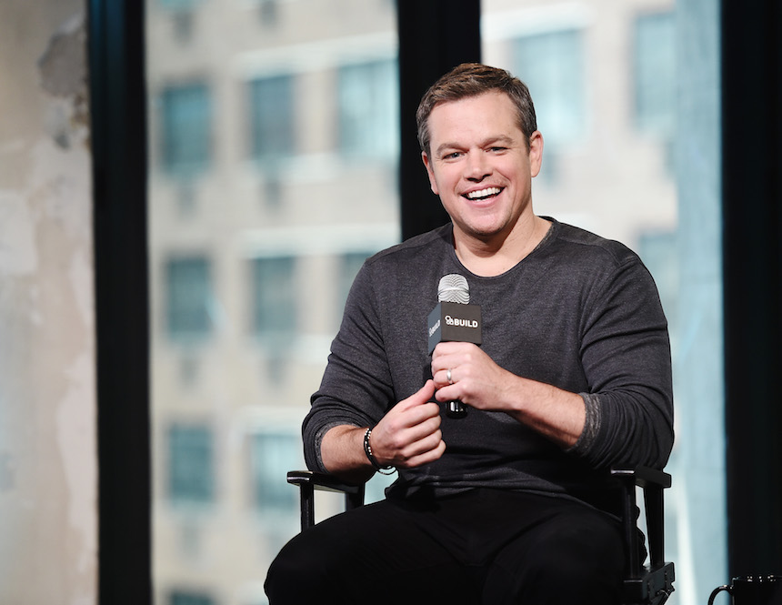 """NEW YORK, NY - JULY 28:  Matt Damon attends AOL Build Presents Matt Damon Discussing His New Film """"Jason Bourne"""" at AOL HQ on July 28, 2016 in New York City.  (Photo by Nicholas Hunt/Getty Images)"""