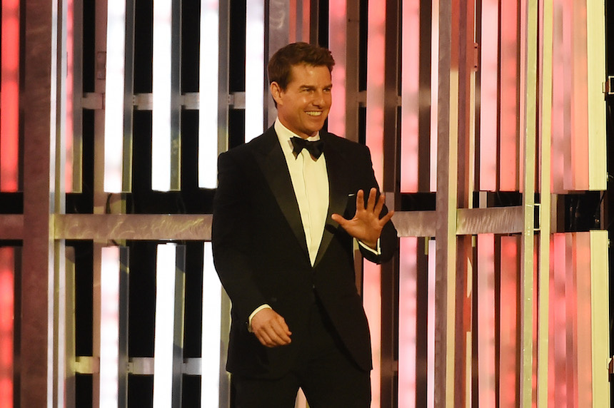 LAS VEGAS, NV - DECEMBER 04:  Actor Tom Cruise is introduced during the 2015 NASCAR Sprint Cup Series Awards show at Wynn Las Vegas on December 4, 2015 in Las Vegas, Nevada.  (Photo by Ethan Miller/Getty Images)